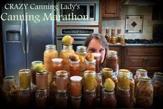 Crazy Canning Lady had a Canning Marathon trying to FINALLY deal with all the fresh produce. Lots of canned goodies but getting there was a comedy of errors! #TaylorMadeHomestead
