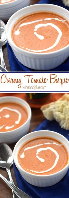 This Creamy Tomato Bisque will make you feel like you are eating at a fancy cafe, right at home!