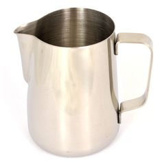 This straight sided stainless steel frothing jug is perfect for steaming milk for cappuccinos and lattes.Milk Frothing Pitcher 340ml (12oz).