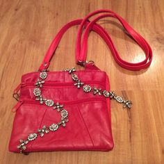 "Selling this ""Cute Red Leather Purse - NWT"" in my Poshmark closet! My username is: nyreecox. #shopmycloset #poshmark #fashion #shopping #style #forsale #Handbags"
