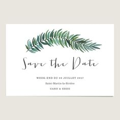 Save the date mariage aquarelle : Romarin www.dioton.fr