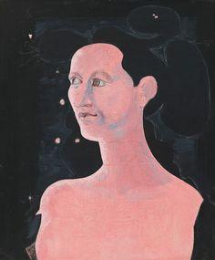 John D. Graham, Kali Yuga, oil, casein, chalk, ballpoint pen, and graphite pencil on cardboard, c. 1952. Whitney Museum of American Art, New York