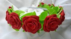 яркий ободок из фоамирана, цветы из формирана, фоамиран, foam, foamiran, foamiran flowers, foamiran diy