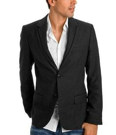 Tailored blazer, shirt, jeans. About as spot on as it gets Blazer With Jeans, Casual Blazer, Blazer Shirt, Casual Outfits, How To Wear Blazers, Blazers For Men, Smart Casual Men, Stylish Men, Casual Dress Code For Men