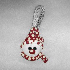 Polka dot Snowman ornament  Christmas tree by Wishcraft2013, £3.00