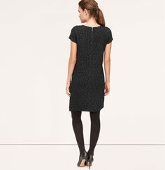 Animal Jacquard Tee Dress | Loft