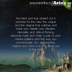 Aries Horoscope. Hey Aries, follow us for horoscopes every day!