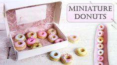 Miniature Polymer Clay Box of Donuts/Doughnuts Tutorial // Maive Ferrando