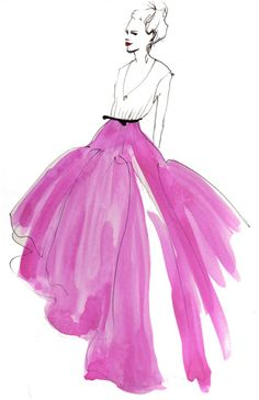 Click the image to watch Jason Wu's Spring show. Illustration by Inslee