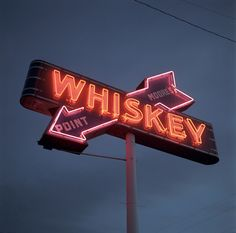 Whiskey Point Neon Sign ~ Fayette County, Kentucky