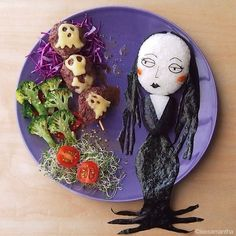 Morticia by food artist, Samantha Lee.