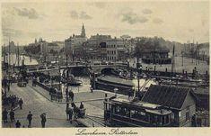 Leuvehaven, voor het bombardement 1940.