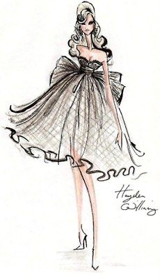 love this and fashion sketches like these