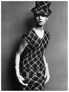 Jean Shrimpton in Mary Quant Dress, photographed by John French, 1963