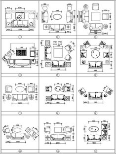 Sofa Cad Blocks Set Design Free Drawings Details