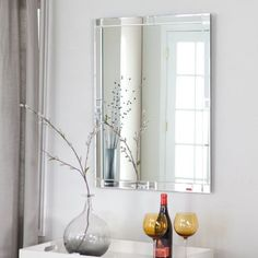 Décor Wonderland Frameless Beveled Karnia Mirror - 23.6W x 31.5H in. | Jet.com