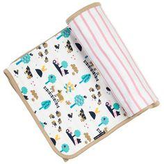 Premium Cotton Reversible Baby Blanket, Luxury Baby Gift