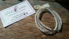 Trio de bracelets,Bracelet de perles,Bracelet fait à la main,Bracelets élastiques,Bracelets avec une boucle,Perles blanches,Cadeau pour elle
