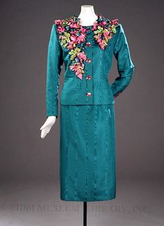 Evening Suit, Yves Saint Laurent, 1988, French, silk, glass, plastic and metal