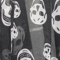 """Fierce and very feminine, Black & White Skull Wrap, is a must have for any wardrobe. Look fantastic with your favorite Fall outfits. Gentlemen pick one of these beauties up for you lady, and give the perfect gift. Material: 100% Silk Poly Size: 26""""W x 59""""L Colors: Black & White **LIMITED QUA..."""