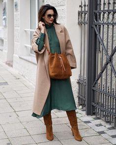 Favorite Stylish and Comfy Winter Dresses Ideas Work Fashion, Modest Fashion, Street Fashion, Fashion Looks, Fall Winter Outfits, Winter Dresses, Autumn Winter Fashion, Mode Outfits, Chic Outfits