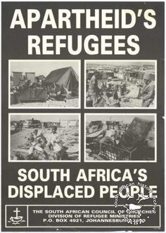 This is an offset litho poster in black and white isssued the South African Council of Churches (SACC). Us History, African American History, Black History, Pamphlet Design, Africa People, Refugee Crisis, Jim Crow, Apartheid, Black African American