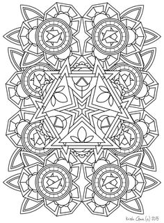 printable intricate mandala coloring pages instant download pdf mandala doodling page adult - Intricate Mandalas Coloring Pages