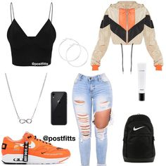 Trendy Outfits for Teens Swag Outfits For Girls, Cute Outfits With Jeans, Cute Comfy Outfits, Teenage Girl Outfits, Cute Casual Outfits, Teen Fashion Outfits, Outfits With Jordans, Cute Highschool Outfits, Cute Nike Outfits