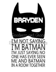 Personalized Batman Shirt for Birthday, Gift or Event - cute!