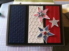 Fourth of july card by stacy bergstrom star cards поделки, о Holiday Cards, Christmas Cards, Military Cards, Envelopes, Star Cards, Westerns, Embossed Cards, Masculine Cards, Card Tags