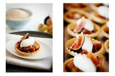 Sunday Suppers:: Fig and Sesame Tarts with Orange Blossom Whipped Cream
