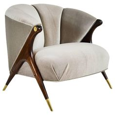 Modernist Lounge Chair by Karpen of California | From a unique collection of antique and modern lounge chairs at https://www.1stdibs.com/furniture/seating/lounge-chairs/