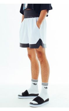 Bleach Project - White Leather Panel Boxer Shorts | unconventional