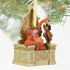 """King Louie on his throne makes for a cute ornament on your tree. MOWGLI AND KING LOUIE SKETCHBOOK ORNAMENT (2013) (from Walt Disney's """"Jungle Book"""")"""