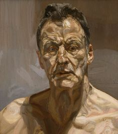 """Lucian Freud // """"Reflection (Self-Portrait)"""" . Another legend in the world of figurative art, I was very fortunate to be able to check out the posthumous exhibit """"Lucian Freud Portraits"""" at the. Lucian Freud Portraits, Lucian Freud Paintings, Famous Self Portraits, L'art Du Portrait, Portrait Paintings, Alberto Giacometti, Royal Academy Of Arts, Painting People, National Portrait Gallery"""