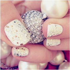 Top 10 New Year's Eve DIY Glittery Nail Art
