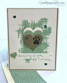 Pet sympathy card - - but you could remove the paw print and make a very nice people sympathy card Making Greeting Cards, Greeting Cards Handmade, Scrapbooking, Scrapbook Cards, Pet Sympathy Cards, Dog Cards, Get Well Cards, Animal Cards, Card Sketches