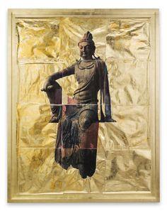 **Artist: Mike and Doug Starn Name of work: Manjushri Date: Medium: Photography/ collage Size of work: