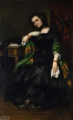 .:. Madame Auguste Cuoq (Mathilde Desportes - 1827/1910) - Portraits of Courbet and Winterhalter - Metropolitan Museum of Art