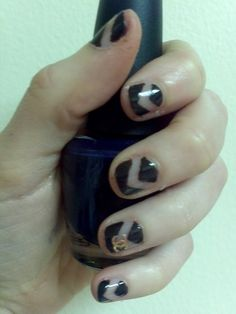 chevron Chanel nails