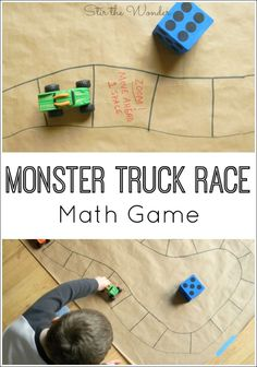 Superstars Which Are Helping Individuals Overseas Monster Truck Race Math Game Is A Fun Way For Preschoolers To Practice Counting And Older Kids To Learn Math Operations. Monster Truck Racing, Monster Trucks, Monster Jam, In Kindergarten, Preschool Activities, Space Activities, Preschool Learning, Truck Crafts, Math Games For Kids