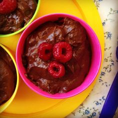 baby friendly chocolate mousse - my lovely little lunch box