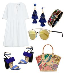 """Whites"" by maria-theresa-gavieres-padua on Polyvore featuring Paul Andrew, BaubleBar, Christian Dior, Tory Burch and Hermès"