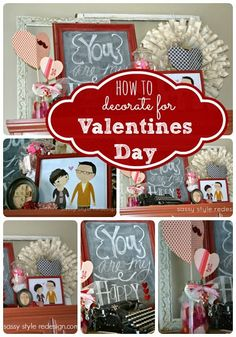 How to Decorate for Valentine's Day |sassystyleredesign.com