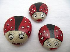 Ladybug family  inspired hand painted stones by inspiredstone, €6.50