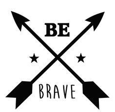 Muursticker babykamer Be Brave | Muurstickers babykamer | Geboortesticker Company
