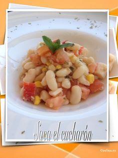 Ensalada de alubias blancas: http://ensalada-de-alubias-blancas.recetascomidas.com/ - #recetas #recipes