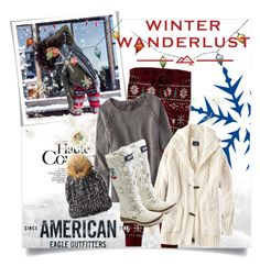 """""""Winter Wanderlust with American Eagle: Contest Entry"""" by clotheshawg ❤ liked on Polyvore featuring American Eagle Outfitters, Threshold and aeostyle"""