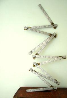 Vintage Industrial Metal Tool Folding Measuring by VintageBroad, $18.00