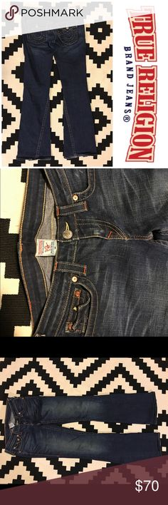 "Like New True Religion Joey Jeans Like new pair of True Religion jeans! Super cute with details throughout and lots of thick stitching. Size 29 with inseam of roughly 34"". No wear or running threads! Perfect condition! True Religion Jeans"